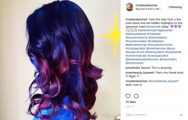 Purple Hair by Rina Dee at Kat's Meow Salon
